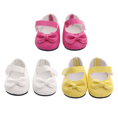 Lovely Girl Doll Bowknot Shoes 18inch American Doll Accessories Girl Gifts