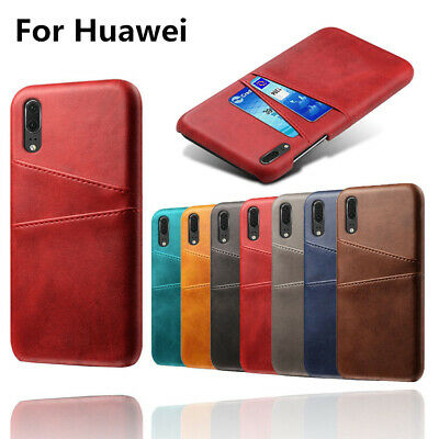 Case For Huawei P10 P20 P30 Pro Lite Wallet Credit Card Slot Leather Slim Cover