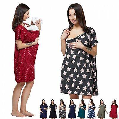 Zeta Ville Women's Labor Delivery Hospital Gown Breastfeeding Maternity 1028