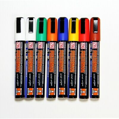 6mm Nib Zig Posterman Wet Wipe Mixed Colour Chalk Pens. Pk of 8.Craft Pen.Chalk.