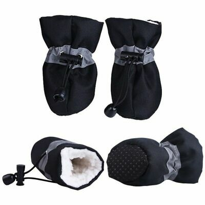 Black Size 6, 4pcs Dog Shoes Boots Feet Cover Paw Protectors Waterproof