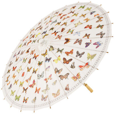 Chinese Paper and Bamboo Parasols - Butterfly Flurry