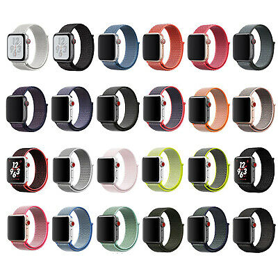 Woven Nylon Band for Apple Watch Sport Loop Watch Series 4 3 2 1 38, 42,40, 44mm