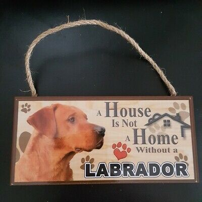 Fox Red Labrador Plaque Hanging Sign Great Gift Fast Dispatch Uk Seller