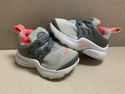 49dae68cbb7e3 NIKE PRESTO EXTREME Girls Baby Walking Toddler Size 5C Pink White Gray  Shoes EUC