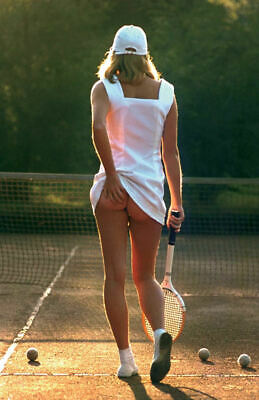 "Tennis Girl - scratching her bum( 11"" x 17"" ) Collector's Poster Print - B2G1F"