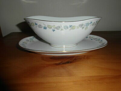 Vintage Franconia Selb Bavaria Sauce Boat With Attached Under Tray