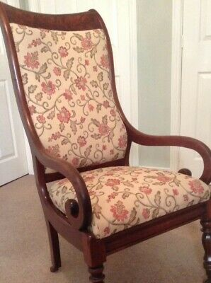 Antique William IV Mahogany Armchair - Excellent Condition.