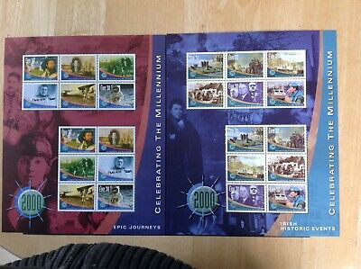 Two sheets of stamps - Celebrating the Millennium