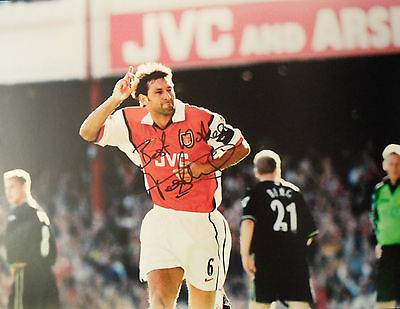 TONY ADAMS In Person Signed 16x12 Photo ARSENAL & ENGLAND Legend Proof COA