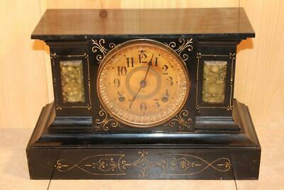 Antique Ansonia Iron 8 Day Mantle Clock *NICE*