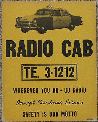 YELLOW TAXI CAB Company Chicago sign - $18 99 | PicClick