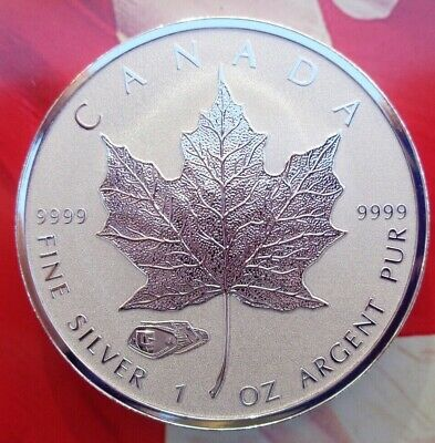 2016 Canadian Maple Leaf coin Reverse Proof Tank Privy .9999 fine silver