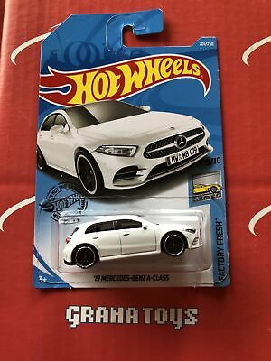 19 Mercedes-Benz A-Class #201 White Factory Fresh 2019 Hot Wheels Case L