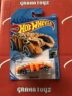 Speed Spider #210 Orange Street Beasts 2019 Hot Wheels Case L