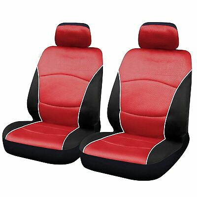 Red Black Modern Look Pair Front Pair Car Seat Covers for Audi A1 10-On