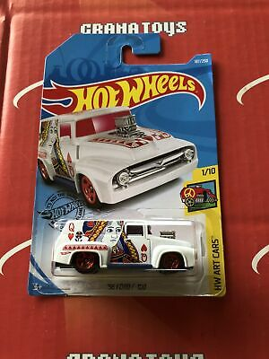 56 Ford F-100 #187 Queen of Hearts 2019 Hot Wheels Case K