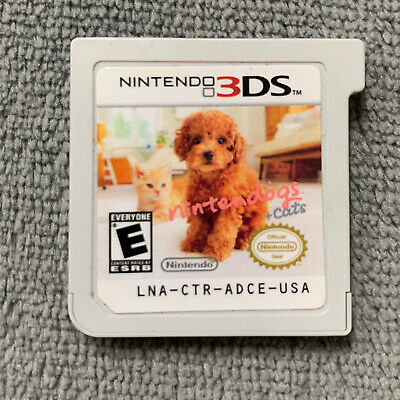 Nintendo Dogs + Cats for 3DS, 2DS Original USA [Game Cartridge Only] 3 VERSIONS