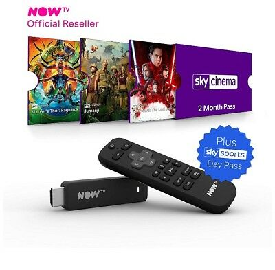 NOW TV Box Smart Stick with 4 month Sky Cinema Pass and Sky Sports Day Pass*****