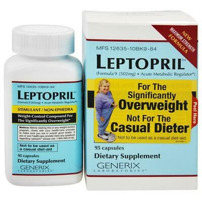 Generix Leptopril Weight Control for Significantly Overweight 95ct Stimulant Aid