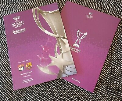 UEFA Women's Champions League Final Lyon v Barcelona Official Programme 2019!