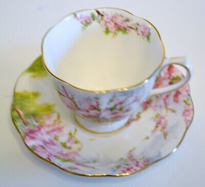 Royal Albert Tea Cup And Saucer Blossom Time Bone China Discontinued Pattern