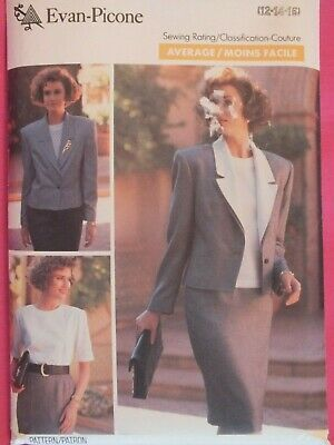 OOP BUTTERICK 3677 EVAN PICONE Misses Jacket Skirt & Top PATTERN 12-14-16 UC