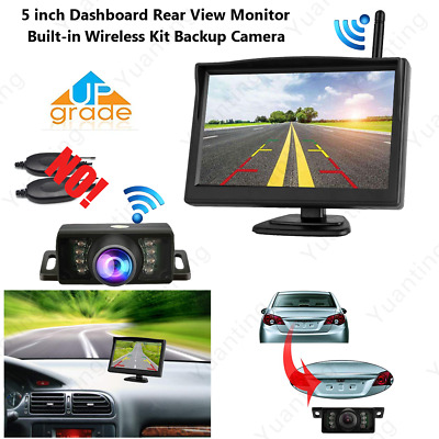 5'' LCD Car Rear View  Monitor + Built-in Wireless Parking Camera For Reversing