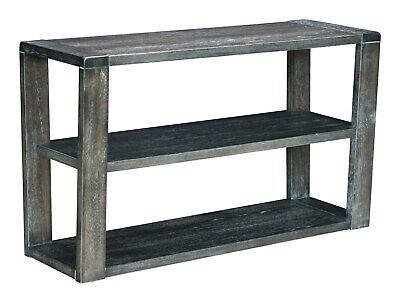 Industrial Country Farm House Console Rack Entry Table, Grey Gray, Wood, 16157
