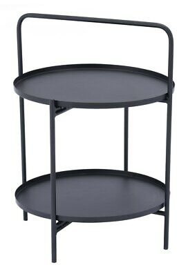 Industrial Country Farm Accent Side End Table Console, Black, Steel, Lobby 16999