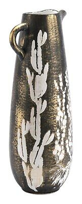 Modern Contemporary Vase Bottle Jar Decor, Antique Gold, Ceramic, Lounge, 16923