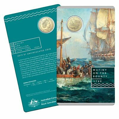 2019 Specimen $1 Coin on Card - Mutiny and Rebellion on the Bounty