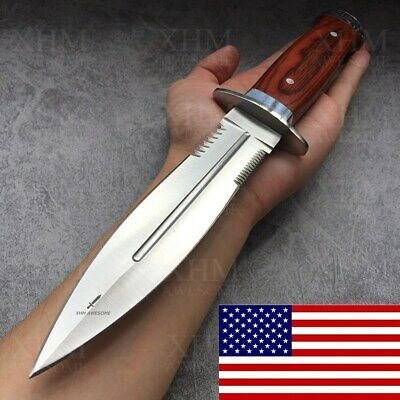 XHM Tactical Dagger Knife Double Edged Military Rescue Knives Sword Bayonet