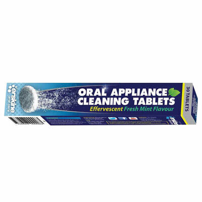 Oral Appliance Cleaning Tablets X 30 Effervescent Fresh Mint Flavour
