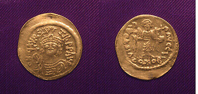 Maurice Tiberius AV Solidus Constantinople 590-602 AD, Victory of the 2 Emperors