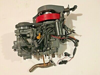 1983 Honda 10 Hp Outboard Motor Bf100 Powerhead Ignition Flywheel Pull Start 4