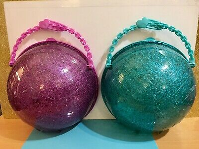 LOL SURPRISE! LIMITED EDITION Glitter Purple & Green Teal Ball Empty Pearl Case