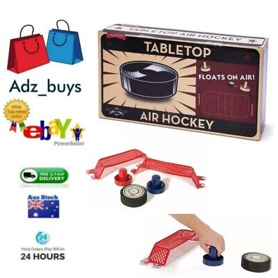 Lagoon Tabletop Air Hockey works on any flat surface battery powered Party BNIB