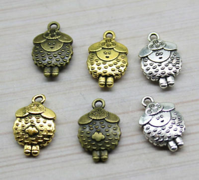 5/20pcs 20x13mm Antique silver alloy lovely delicate sheep force pendant