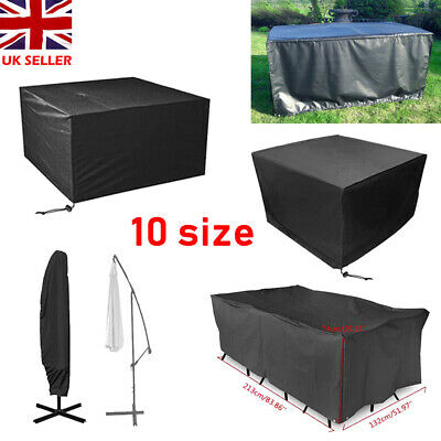 Extra Large Garden Rattan Furniture Cover Patio Outdoor Table Umbrella Sheild
