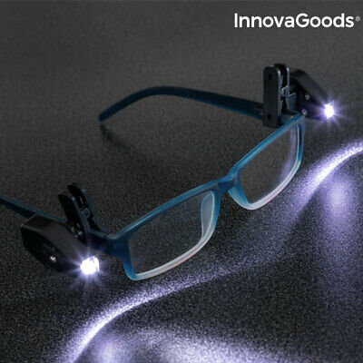 InnovaGoods | Luces LED para gafas | Incluye 2 luces