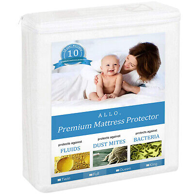 Waterproof Matress Protector Soft Quiet Breathable Cotton Terry Mattress Cover