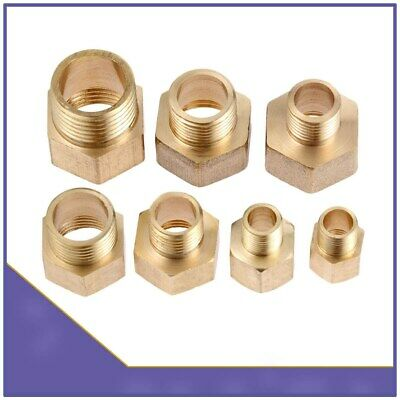 Brass Straight Hex Bushing BSP Male to Female Thread Pipe Fittings Adapter Tube