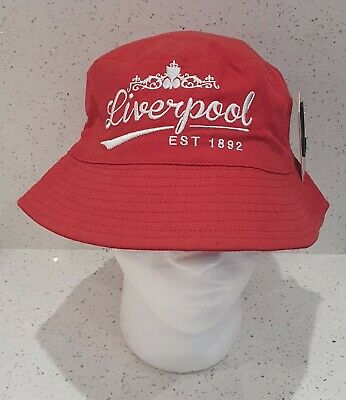 Liverpool Sun / Bucket Hat - Red & White - Adults - Great Gift idea