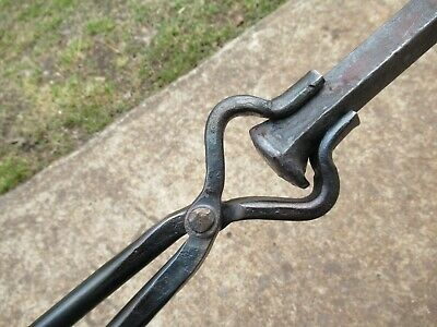 Blacksmith Tongs Tools  Anvil  V-Bit Tongs Knife-Smith Railroad Spike hammer
