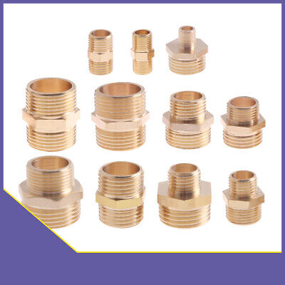 BSP Male to Male Thread Coupler Hex Nipple Brass Connector Adapter Fitting Water