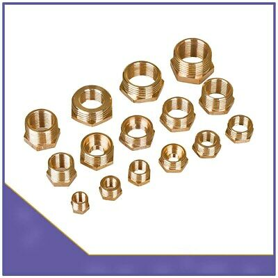 Brass Reducing Hexagonal Bush Male to Female BSP Adapter Fitting Connector Water