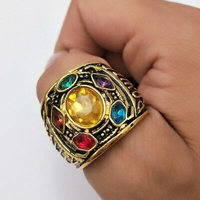 Avengers The Infinity War Thanos Power Ring Infinity Gauntlet Jewelry Rings 8-12