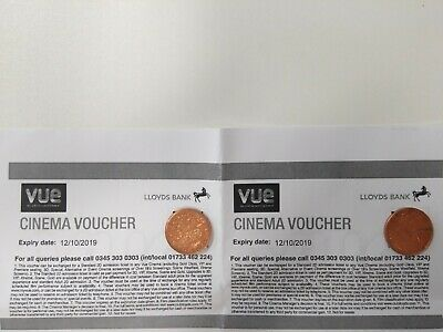 Cinema tickets - Vue e-tickets or can be posted