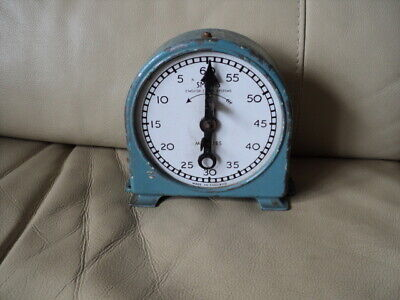 Very Rare Vintage Smiths English Clock Systems Timer Winding from front Working